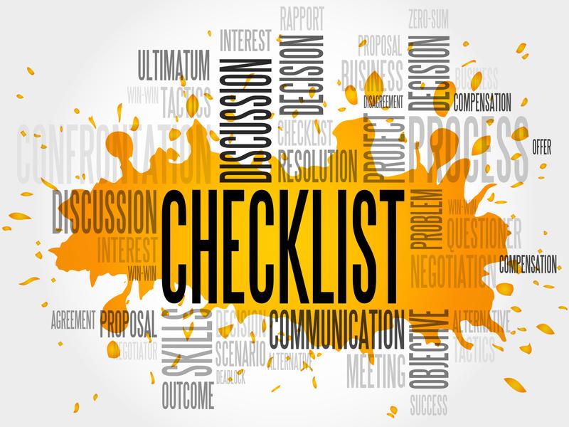 Konzepte erstellen Wortwolke Checkliste